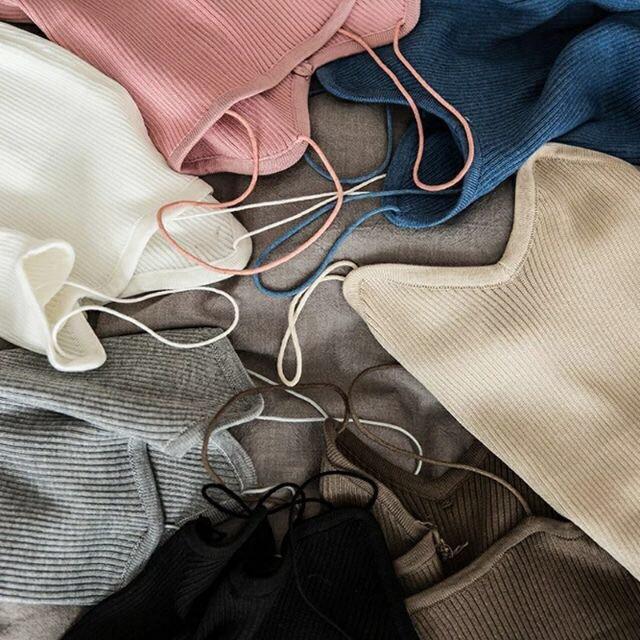 Áo 2 dây len tăm