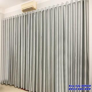 Rèm cửa màu xám trắng đủ size cho cửa sổ, cửa đi, cửa sổ phòng khách, cửa sổ phòng ngủ, chống nắng cực tốt