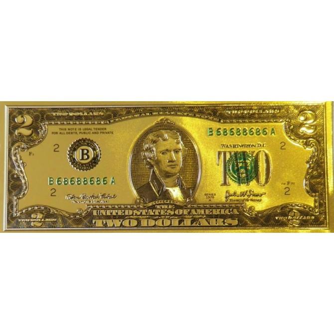 Tiền 2USD Vàng