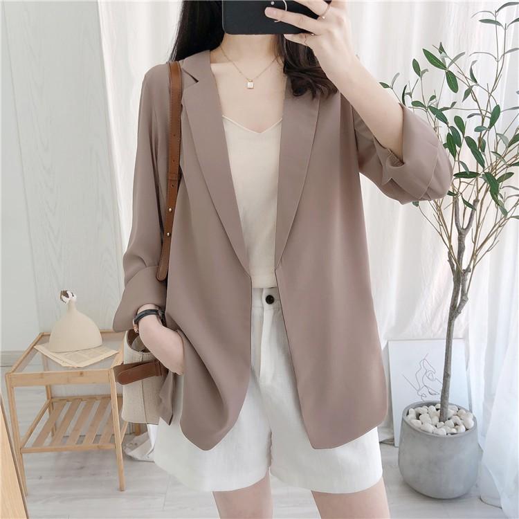 ( Ảnh thật ) Áo Blazer nữ, áo Vest nữ, Blazer hàn quốc đẹp, Áo blazer đẹp mỏng thiết kế mặc mùa hè thu 2020