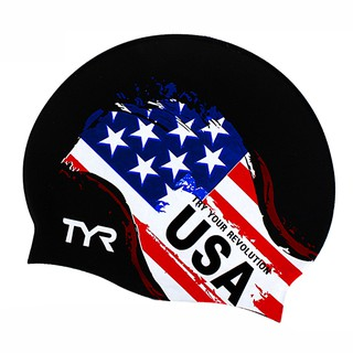 Nón bơi người lớn TYR cờ USA TCR001 Silicone Cap