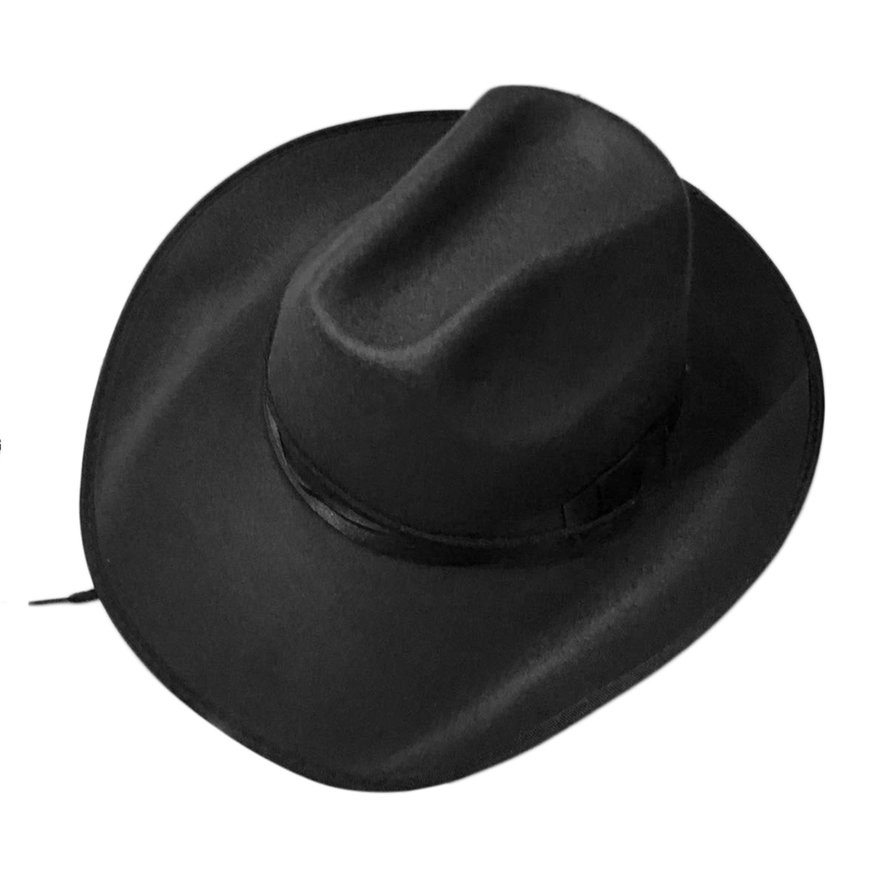 Adjustable Rope Male Female Cashmere Caps Cowboy Cowgirl Hats Summer Sun Hat
