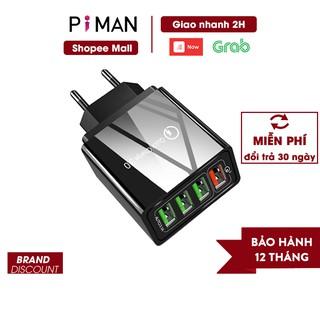 Củ sạc nhanh di động quick charge 3.0 củ sạc nhanh 18w iphone samsung sạc nhanh kéo dài tuổi thọ cho pin Piman P211 thumbnail