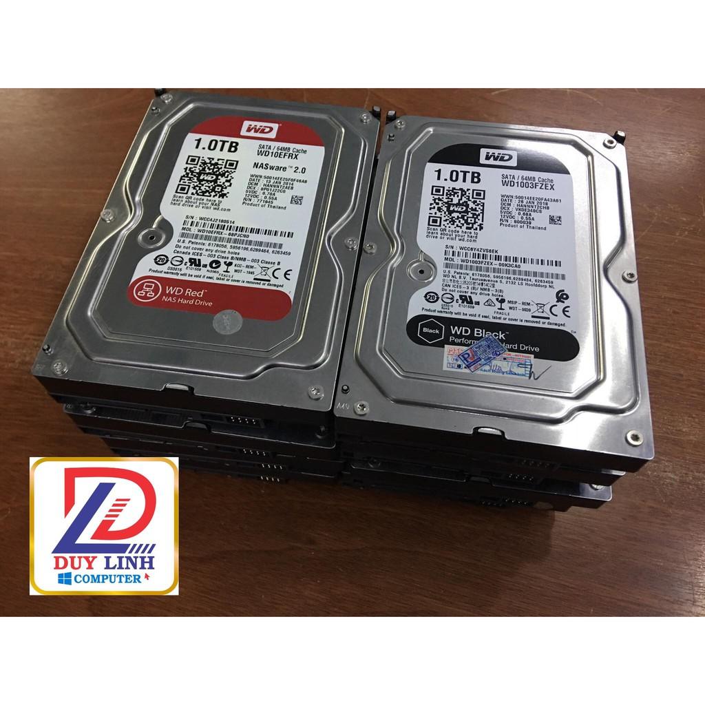 [Mã ELMS05 giảm 5% đơn 300K] Ổ Cứng HDD 1T Western Black,Red chuyên dùng cho sever chạy 24/24
