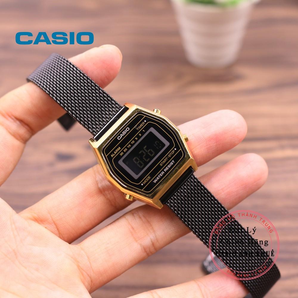 Đồng hồ điện tử nữ Casio LA690WEMB-1BDF dây kim loại