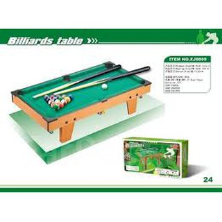 (GIẢM SIÊU SỐC) Bộ trò chơi bi-a trong nhà bằng gỗ, loại đại 74x41x16cm, có rọ lấy bóng, gậy dài 66cm dành cho 2 bé chơi