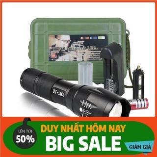 Đèn pin siêu sáng bóng led xml t6 police bin mini cầm tay chống nước tự vệ chuyên dụng [ full box ] .