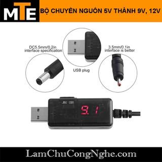 Cáp chuyển đổi điện áp từ cổng USB 5V sang 9V và 12V sử dụng cho router wifi …