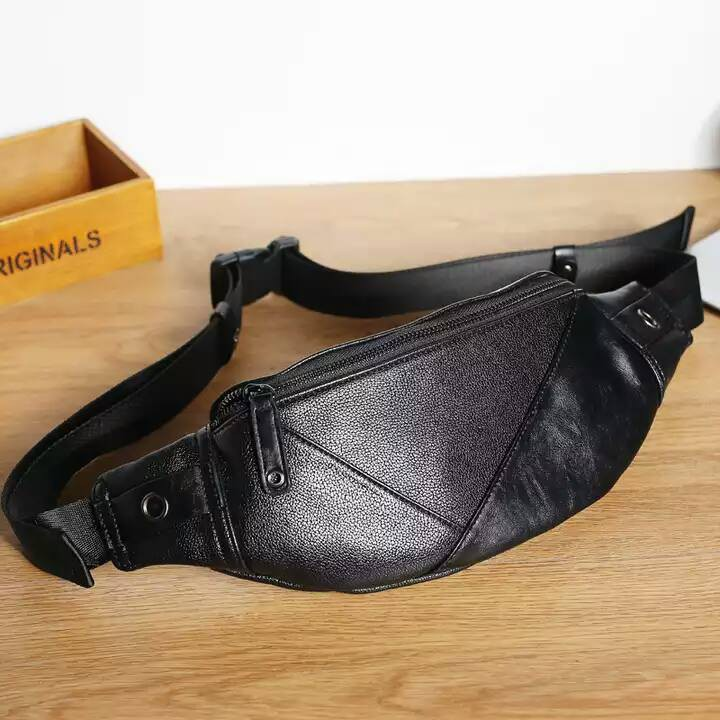 Túi da đeo chéo bao tử nam hàn TD46