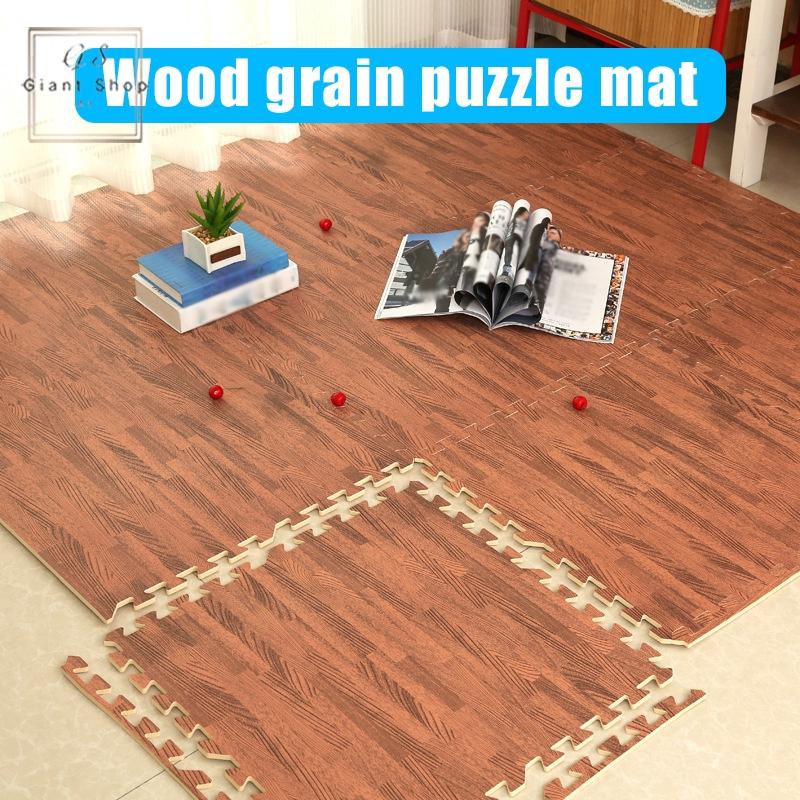 Foam Play Puzzle Mats Wood Grain Soft