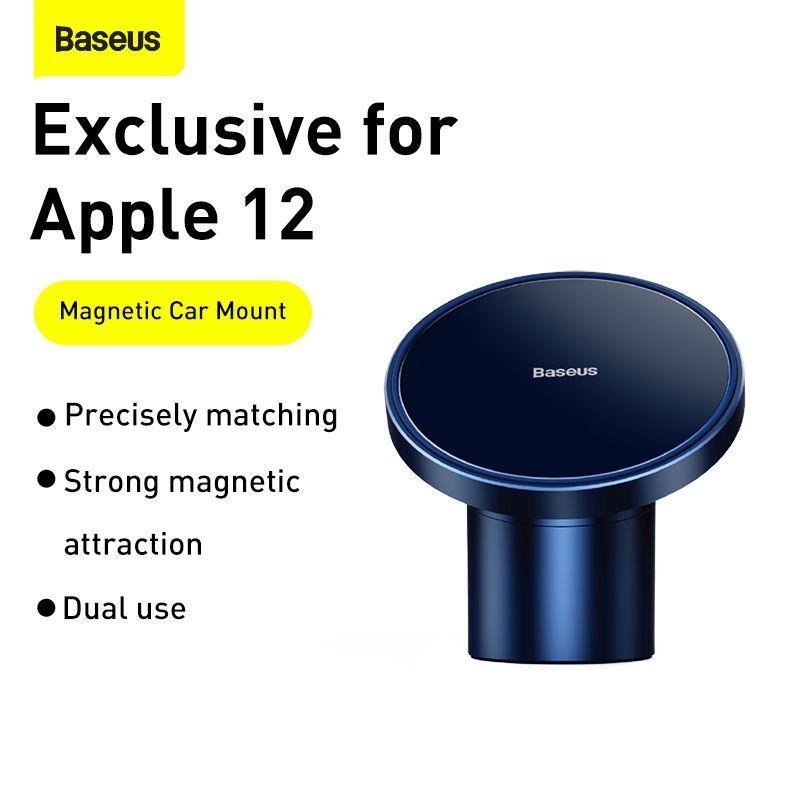 Giá Đỡ Điện Thoại Baseus Cho iPhone 12 Gắn Lỗ Thông Hơi Ô Tô Từ Tính Đa Năng