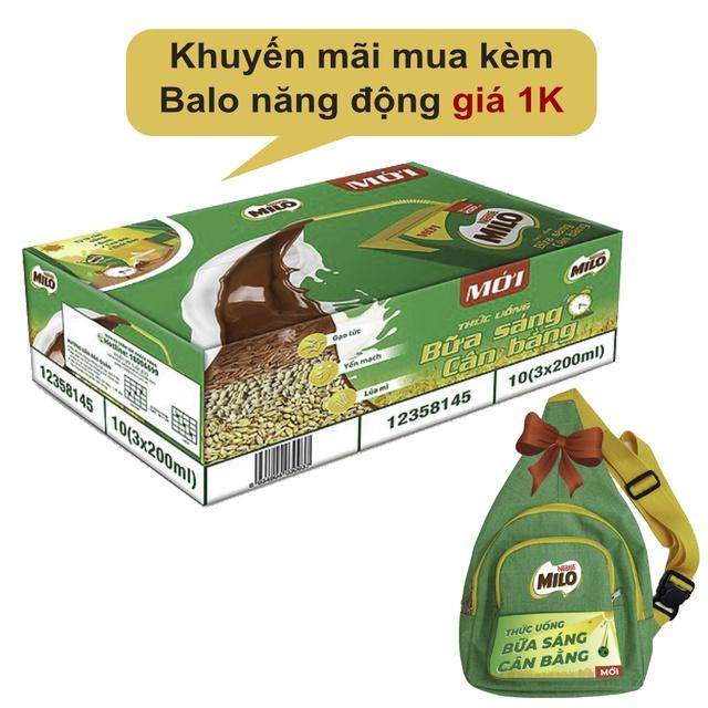 Hình ảnh Thùng 30 hộp sữa ngũ cốc Nestle Milo 200ml-0