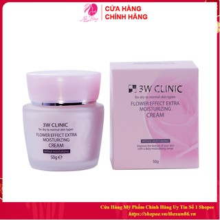 [Nhập Khẩu Hàn Quốc] Kem dưỡng trắng da - Kem dưỡng ẩm chiết xuất từ Hoa Hồng 3W Clinic Hàn Quốc 50ml