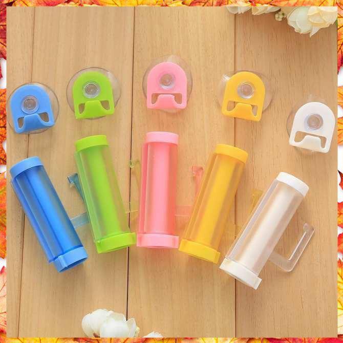 [ẢNH THẬT] Ống lấy kem đánh răng tiện ích treo tường nhiều màu Tiện Lợi