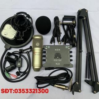 [Mã ELMS5 giảm 7% đơn 300K] Combo thu âm livestream karaoke AQTA BM900-CARD XOX K10 2020 kèm phụ kiện bảo hành 12 tháng