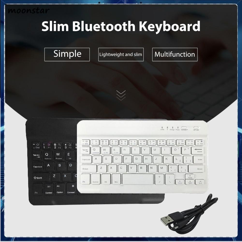 Bàn Phím Bluetooth Không Dây Ms 78 Phím Siêu Mỏng Cho Ipad Phone Tablet