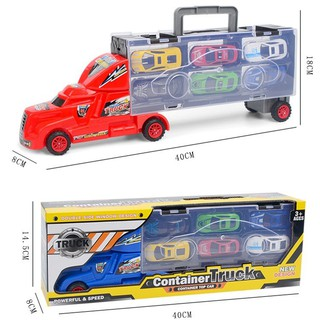 KIDSCLOTHING portable container truck set kids toy model car toys