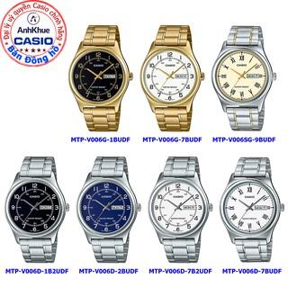 Đồng hồ nam Casio MTP-V006 MTP-V006D MTP-V006G MTP-V006SG bảo hành 1 năm chính hãng Anh Khuê dây thép thumbnail
