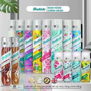 [Mã 88FMCGSALE1 giảm 10% đơn 250K] Dầu Gội Khô Batiste Dry Shampoo 200ml Hết Ngứa, Hết Bết Dính Tóc Bồng Bềnh Tức Thì