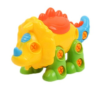 Early Education DIY Screw Nut Installed 3D Puzzle Animal Disassembly Kids Toys