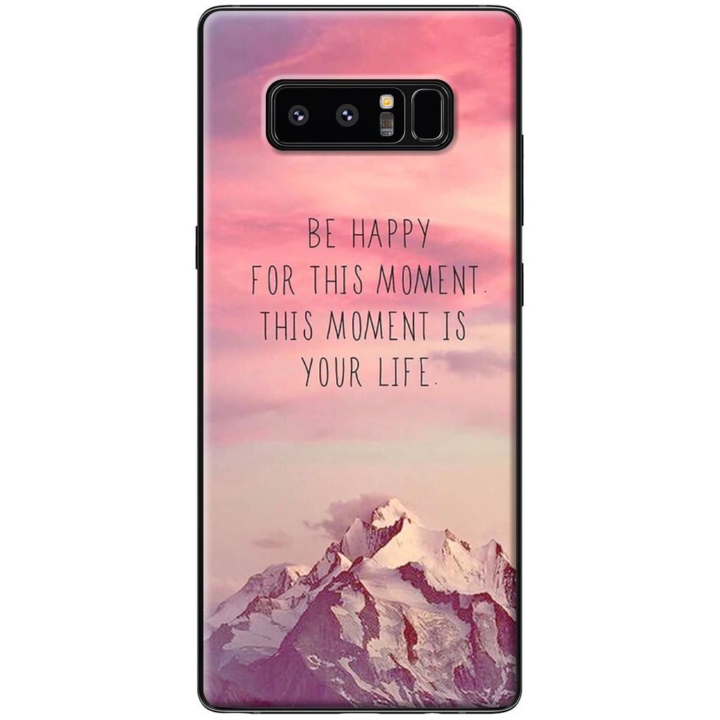 Ốp lưng Samsung Note 8 - Nhựa dẻo Be Happy