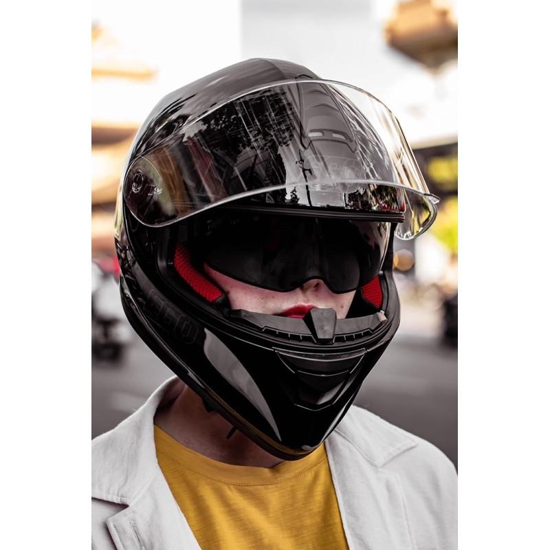 Mũ bảo hiểm Fullface EGO E6 - EGO E-6 màu đen nhám