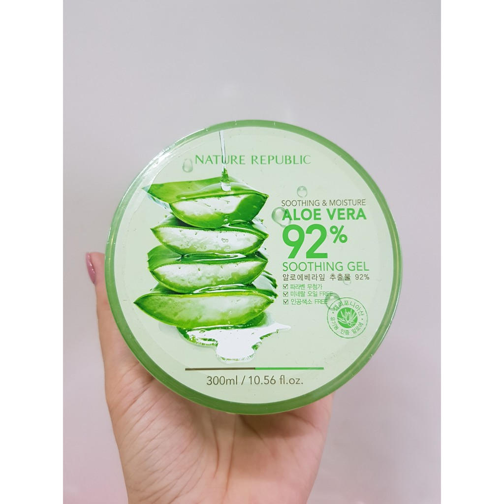 [ BÁN SỈ ] Nature Republic Soothing & Moisture Aloe Vera 92% Soothing Gel 300ML ( Date 11/2019 )