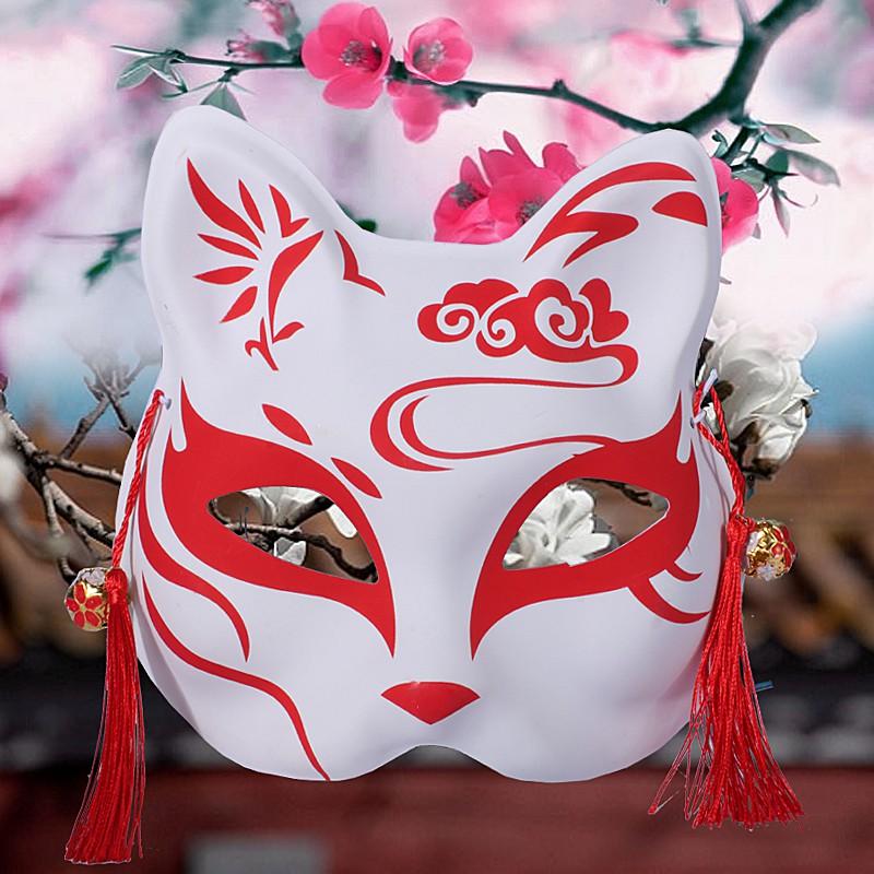 Mặt Nạ Nửa Mặt Hóa Trang Halloween Phong Cách Nhật Bản