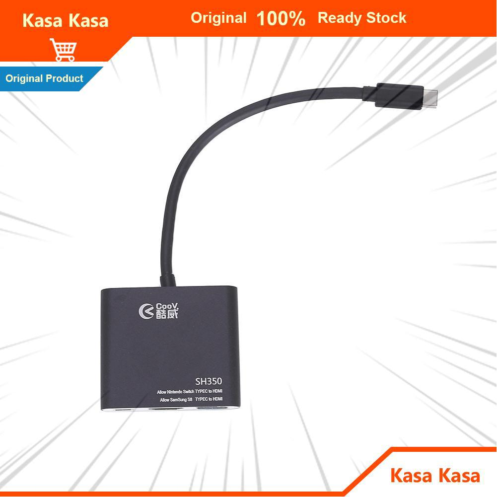 ❤Kasa Kasa Samsung S8 Portable Type-C Dock Plug and Play Type-C To HDMI Adapter Black