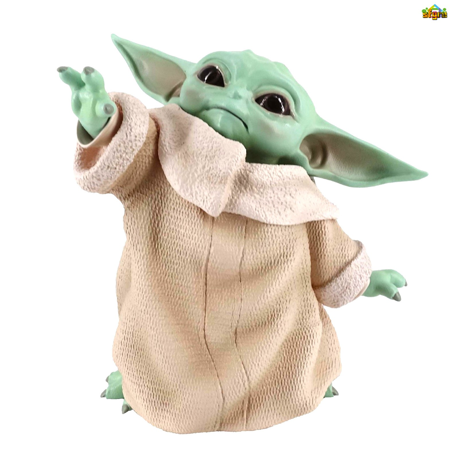 Sfyre Mandalorian War Star Little Baby YODA Ornaments Statue Figure Toys Gift for Kids