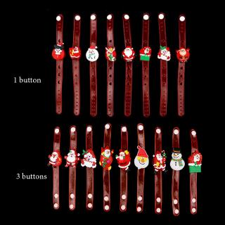 1/2pcs Random Dance Party Supplies New year Adjustable Stress Relief Xmas ornament Cartoon LED Watch