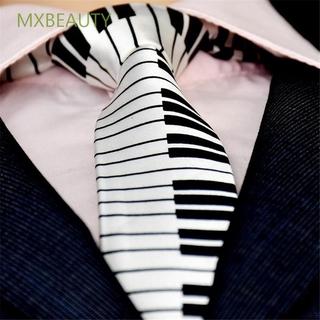 MXBEAUTY Personalized Piano Keyboard Necktie Fancy Dress Music Tie Black & White Polyester for Men Fashion Gifts Classic Skinny Tie