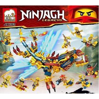 [HOT] Bộ lego Ninja gh legacy nhẫn giả rồng vàng lốc xoáy mã jx1152