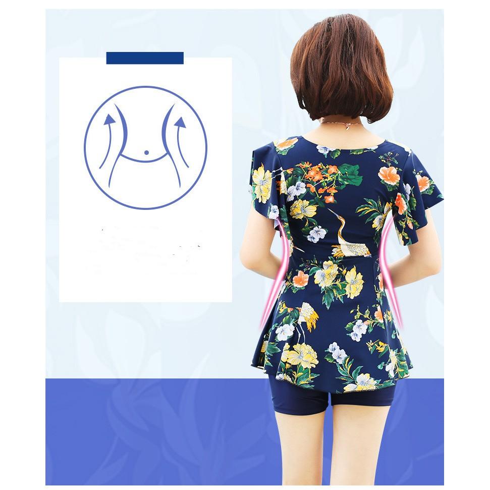 Mặc gì đẹp: Đằm thắm với (sẵn)Áo tắm một mảnh cho người mẹ trung niên cỡ lớn rộng kín đáo chính hãng Youyou