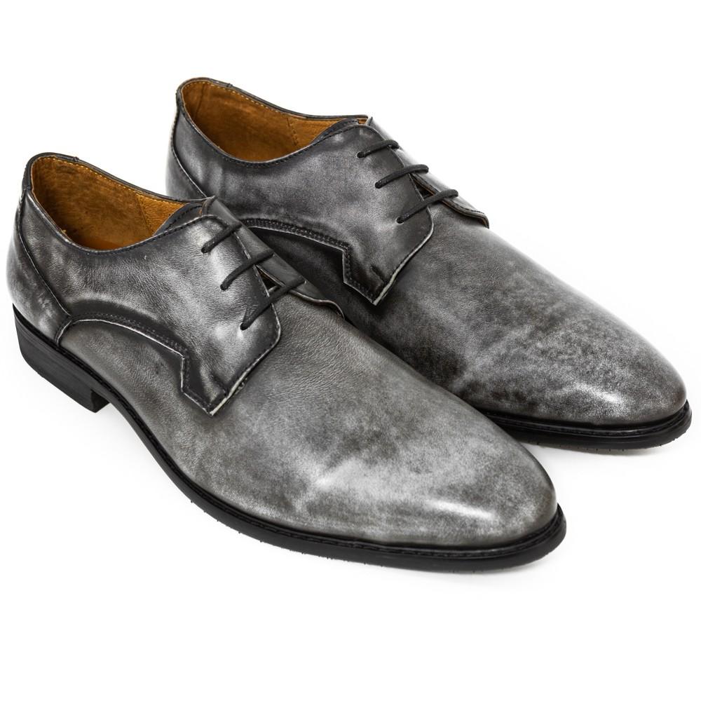 Giày Tây Nam ATTOM Da Bò Cao Cấp Mẫu Giày Patina Wax Màu Phối Đan Dây Cổ Điển - MSP : AM30153