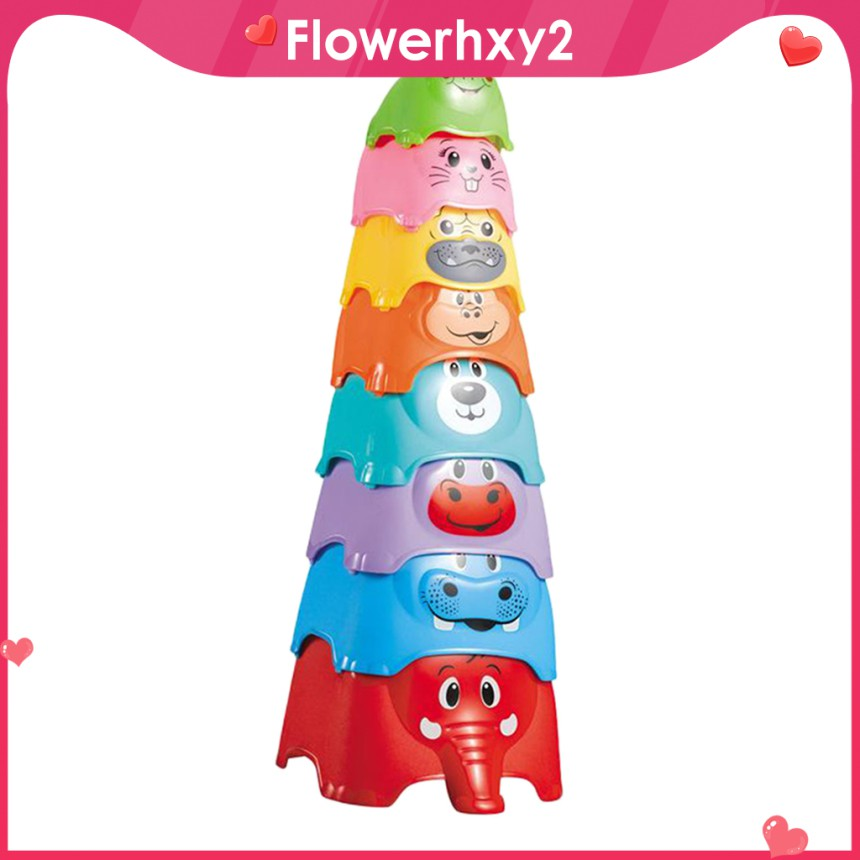Stacking Cup Toys Early Educational Intelligence Toy Baby Bath Toys Gifts
