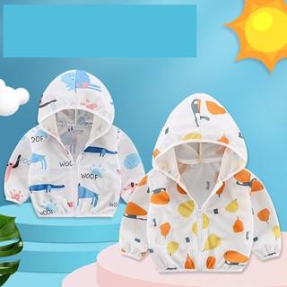 (Hàng QCCC- Siêu thoáng) Áo chống nắng áo khoác mỏng mùa hè có mũ cho bé trai bé gái siêu nhẹ thấm hút ngộ nghĩnh thumbnail