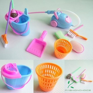 Home Furniture Cleaner Furnishing Kit For Barbie Doll House Cleaning Tool