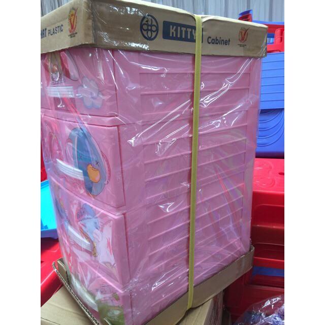 Tủ nhựa Việt Nhật 3 tầng, 4 tầng mini - Tủ Kitty Việt Nhật
