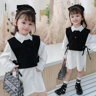 Set đầm và áo không tay xinh xắn cho bé gái