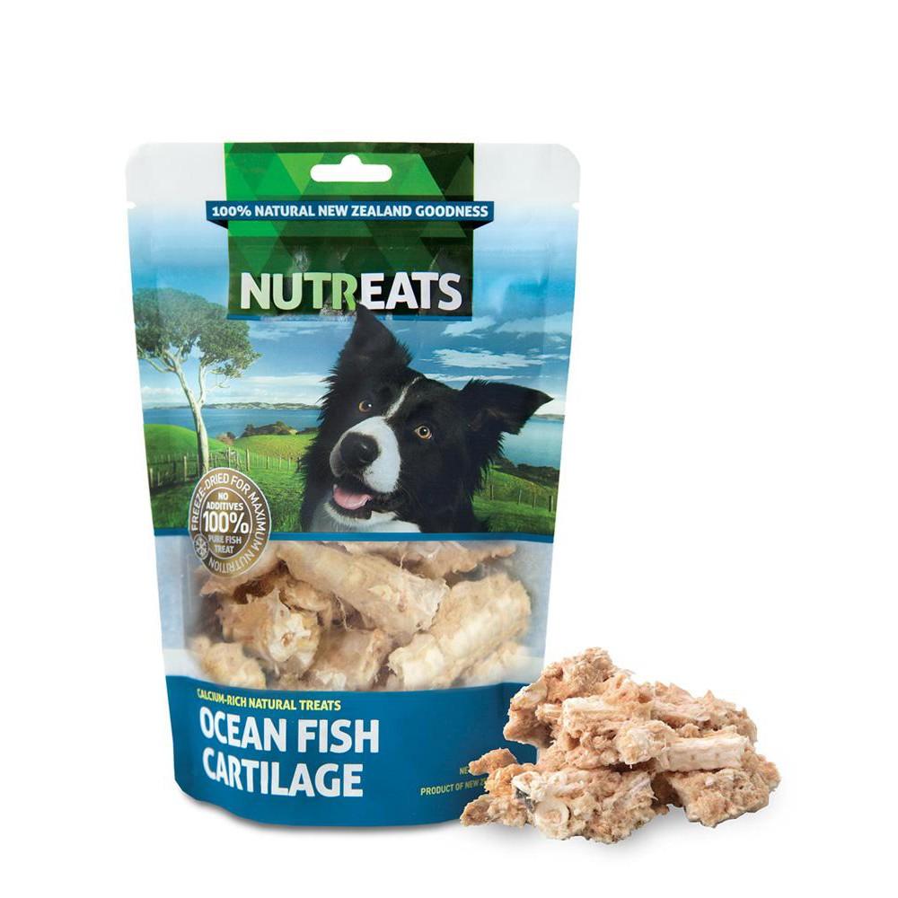 NUTREATS OCEAN FISH CARTILAGE นูทรีทส์ กระดูกอ่อนปลาทะเล ขนมสุนัขพรีเมี่ยมเพื่อสุขภาพ บำรุงกระดูกและข้อ (50g)