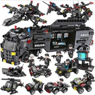 Bộ Đồ Chơi Lego Hình Xe Cảnh Sát Cho Bé