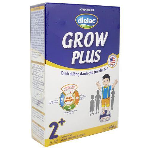 Sữa bột Dielac Grow Plus xanh 2+ hộp 400g