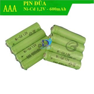 Combo 4 viên pin đũa sạc lại, pin AAA 600mAh 1,2V NI-CD thumbnail