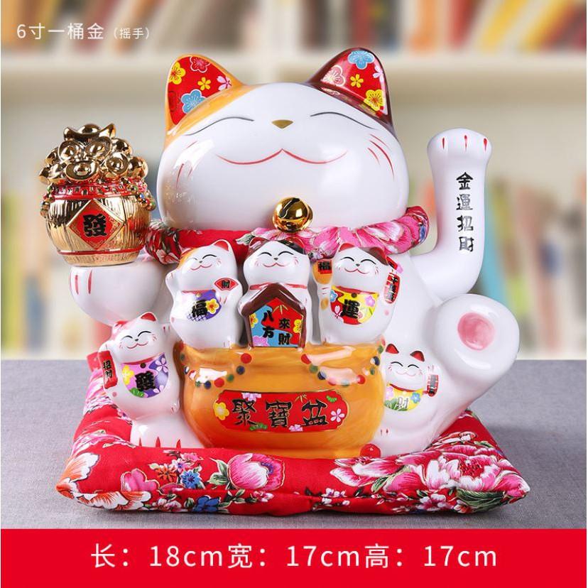 Mèo Thần Tài Thiên Kim Vạn Lượng 18cm