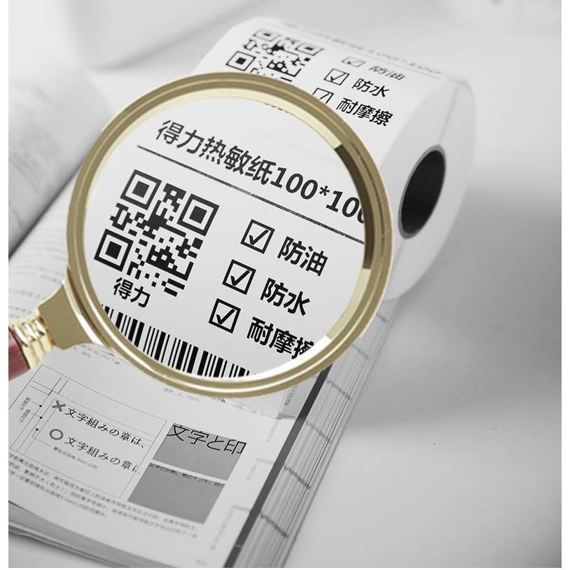 Tem in nhiệt Shoptida loại 600 tem 50*50mm in minicode, qr code, lời cảm ơn, sử dụng cho máy in nhiệt Shoptida SP46