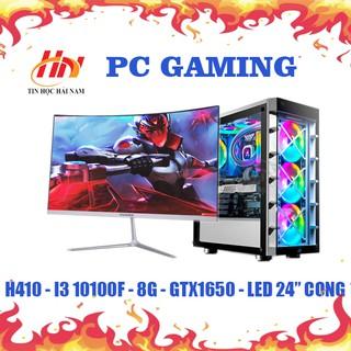 máy tính chơi game (HNC-IN4) core i3-10100/ GTX 1650 oc/ màn 24inch