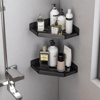 ┋▧■Shower rod rack free punch washbasin bathroom wall storage toilet basin