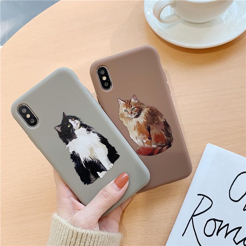 For iPhone 6 7 8 Plus X XR XS Max Cat TPU Phone Case