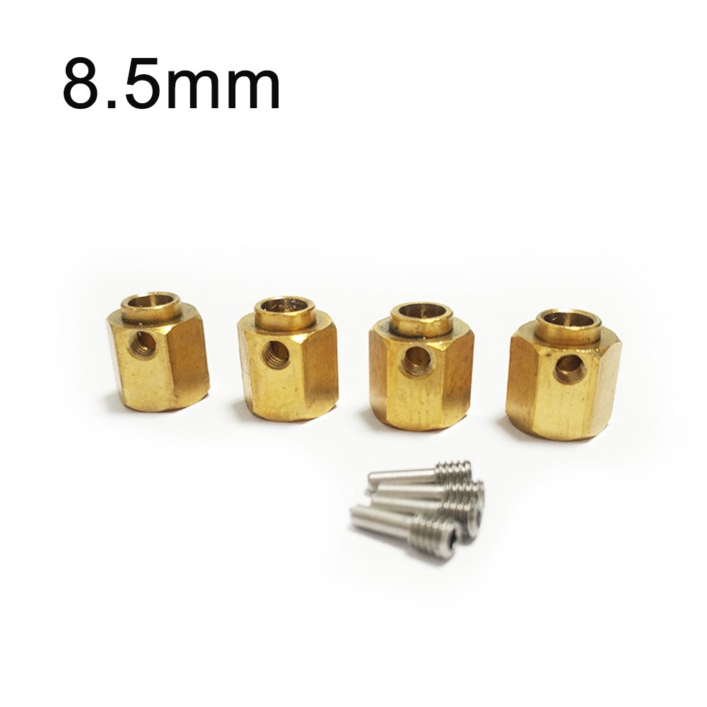 ☽4pcs/set Heavy Duty 5/8/10mm Thick 12mm Hex Wheel Hubs For 1:10 RC Traxxas TRX-4